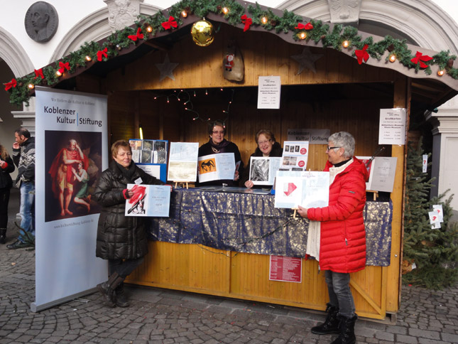 Koblenzer Kultur Stiftung auf dem Weihnachtsmarkt