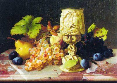 """Dieses Gemälde zeigt ein """"Stillleben mit Früchten""""."""
