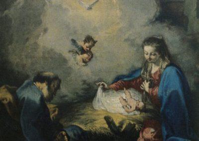 """Das Gemälde zeigt die """"Geburt Christi""""."""